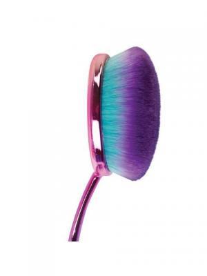 Кисть-щетка для тональной основы MODA PRISMATIC FACE PERFECTING FOUNDATION BRUSH. Royal&Langnickel. Цвет: зеленый, розовый, фиолетовый