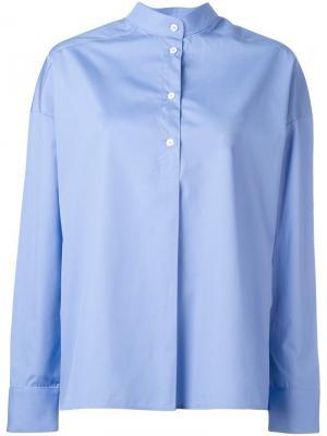 Блузка на пуговицах Each X Other. Цвет: синий