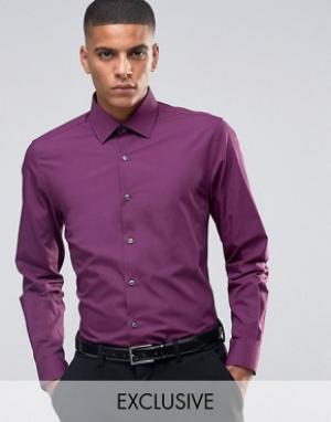 Number Eight Savile Row Зауженная рубашка в строгом стиле. Цвет: красный