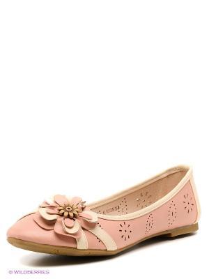 Балетки Wilmar. Цвет: бледно-розовый, светло-бежевый