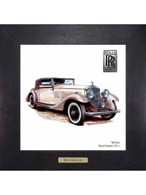 Картина-сувенир Rolls-Royce, Phantom II Continental (1931 г.) Ceramic Picture. Цвет: бежевый