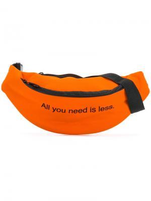 Поясная сумка All You Need Is Less F.A.M.T.. Цвет: жёлтый и оранжевый