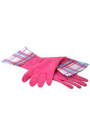 Перчатки кухонные MAGIC HOME. Цвет: сиреневый, черный