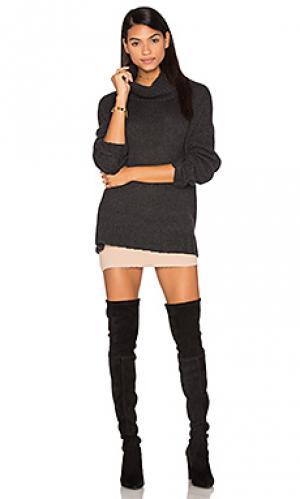 Кашемировый свитер с высоким воротом rhea 360 Sweater. Цвет: уголь