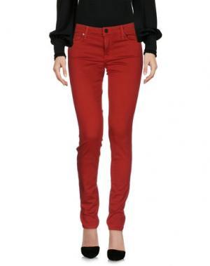 Повседневные брюки GENETIC DENIM. Цвет: красный