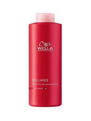 Wella Brilliance Line Бальзам для окрашенных нормальных и тонких волос 1000 мл Professional. Цвет: молочный