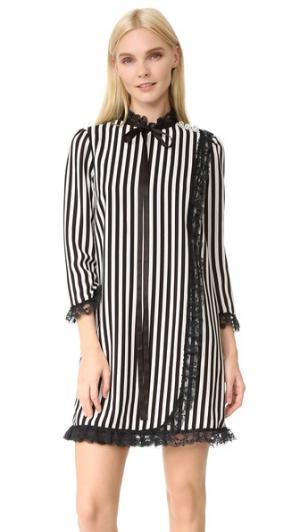 Платье-комбинация в полоску Marc Jacobs. Цвет: черный/пергамент