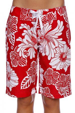 Шорты пляжные женские  Joyful Red/White Animal. Цвет: красный