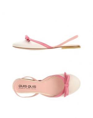 Балетки QUIS. Цвет: светло-розовый