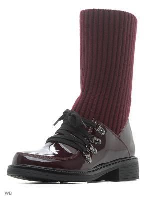 Ботинки Milton. Цвет: бордовый