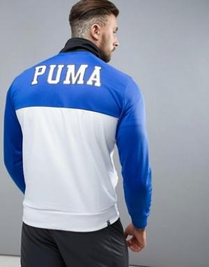 Puma Белая спортивная куртка в винтажном стиле. Цвет: белый