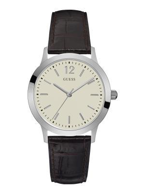 Часы GUESS. Цвет: коричневый, серебристый, белый