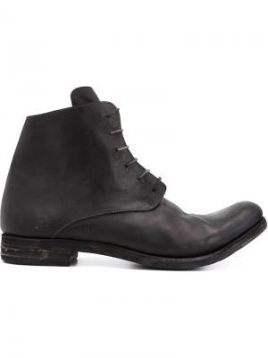 Ботинки с потертой отделкой A Diciannoveventitre. Цвет: чёрный