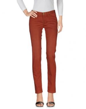 Джинсовые брюки SOEUR. Цвет: кирпично-красный