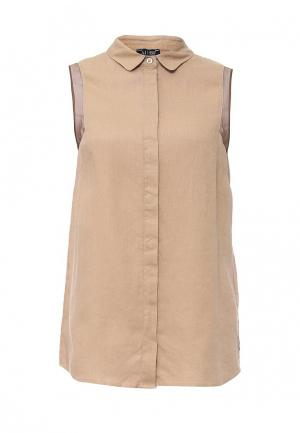 Блуза Armani Jeans. Цвет: бежевый