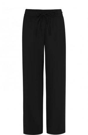 Однотонные брюки прямого кроя с эластичным поясом REDVALENTINO. Цвет: черный