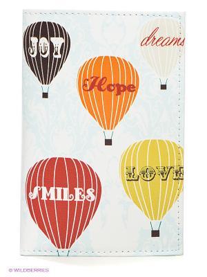 Обложка для паспорта Mitya Veselkov. Цвет: белый, красный, оранжевый