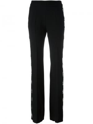Расклешенные брюки с заклепками David Koma. Цвет: чёрный