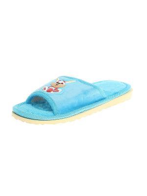 Тапочки домашние детские Migura. Цвет: голубой, бежевый, красный, желтый, белый