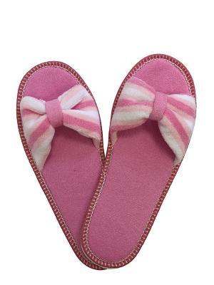 Тапочки A and C Collection. Цвет: розовый