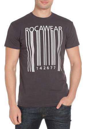 Футболка Rocawear. Цвет: серый