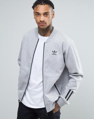 Adidas Originals Серая свободная спортивная куртка Paris Pack BK0521. Цвет: серый