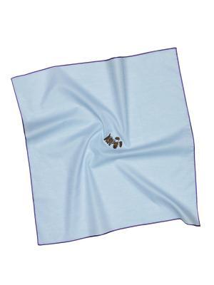 Платок 100% х/б 50*50 Passigatti. Цвет: синий, голубой