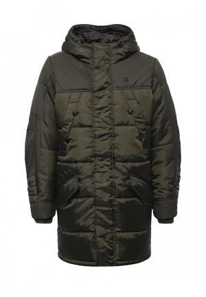 Куртка утепленная G-Star. Цвет: зеленый