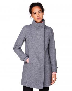 Пальто Benetton. Цвет: серый