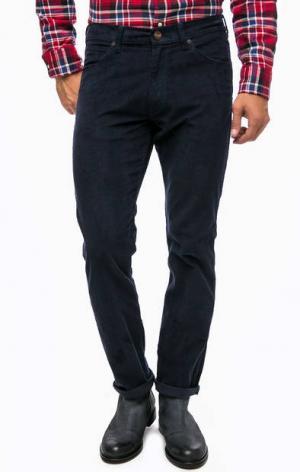 Синие вельветовые брюки Wrangler. Цвет: синий