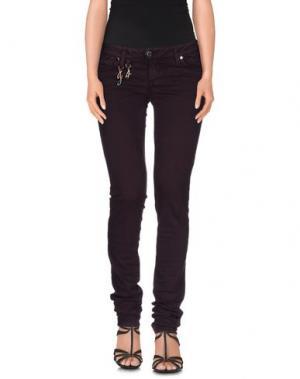 Джинсовые брюки JFOUR. Цвет: баклажанный