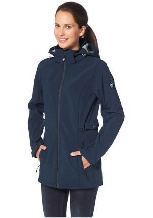 Куртка POLARINO. Цвет: темно-серый/меланжевый, темно-синий меланжевый