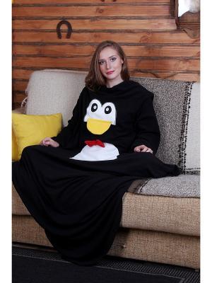 Плед с рукавами Пингвин HandyWear. Цвет: черный