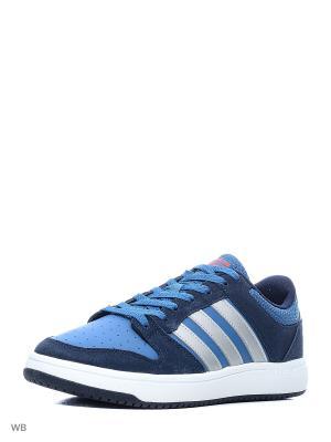 Кроссовки CLOUDFOAM BB HOOPS  CONAVY/MSILVE/ENERGY Adidas. Цвет: белый, серебристый, темно-синий