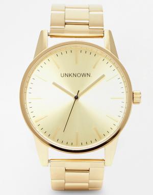 UNKNOWN Золотистые часы из нержавеющей стали. Цвет: золотой