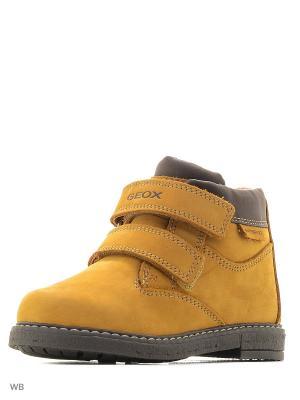 Ботинки GEOX. Цвет: светло-коричневый, темно-коричневый