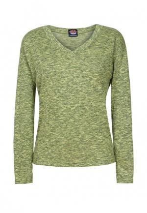 Пуловер Mayamoda. Цвет: зеленый