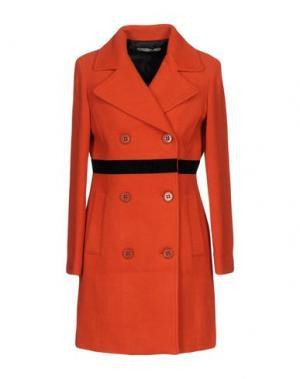 Пальто PAOLO CASALINI. Цвет: оранжевый