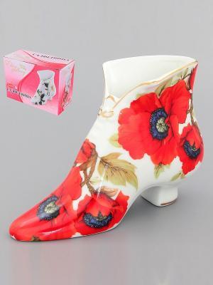 Салфетница-туфелька Маки Elan Gallery. Цвет: красный, белый
