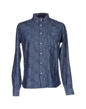 Джинсовая рубашка ELEMENT. Цвет: синий