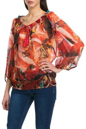 Блуза Desigual. Цвет: мультицвет