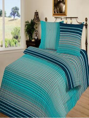 Комплект постельно белья тк. Бязь Кавалер Шоколад. Цвет: бирюзовый, темно-синий