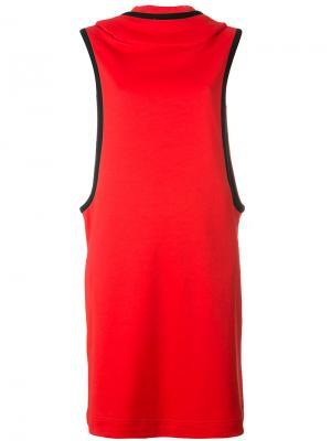 Платье без рукавов Y-3. Цвет: красный