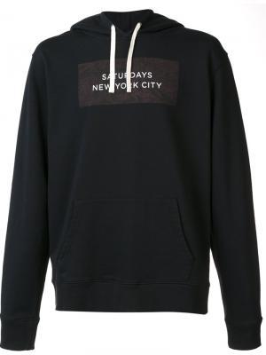 Logo print pullover hoodie Saturdays Surf Nyc. Цвет: чёрный