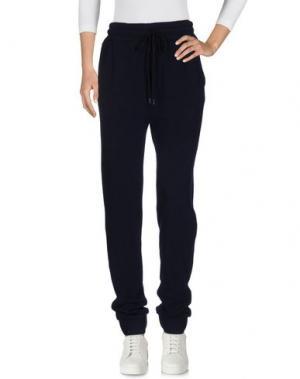 Повседневные брюки 120% CASHMERE. Цвет: темно-синий