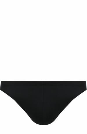 Брифы из вискозы со скрытой резинкой Zimmerli. Цвет: черный