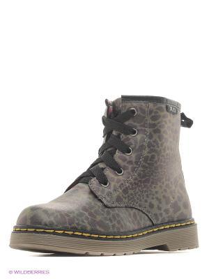 Ботинки XTI. Цвет: зеленый