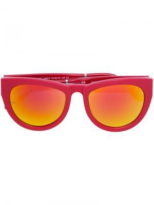 Солнцезащитные очки с эффектом градиент Smoke X Mirrors. Цвет: красный