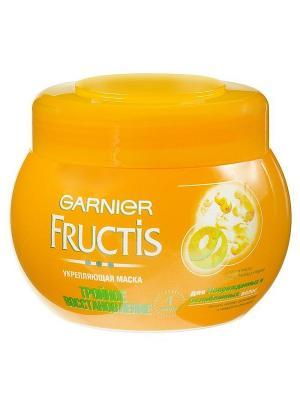 Маска  для волос Fructis, Тройное восстановление, сухих, пересушенных волос, 300 мл Garnier. Цвет: желтый