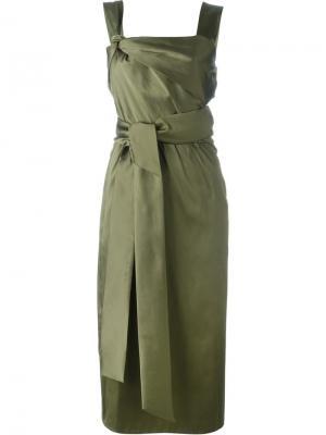 Приталенное платье с поясом на талии 3.1 Phillip Lim. Цвет: зелёный